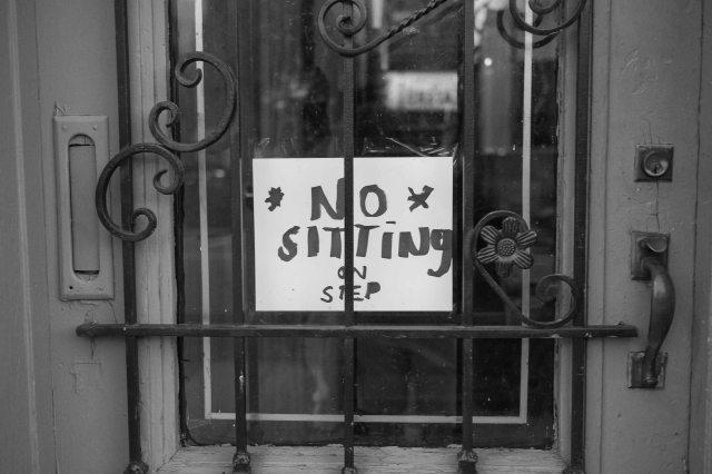 no siting
